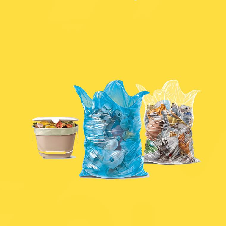 trash in bags