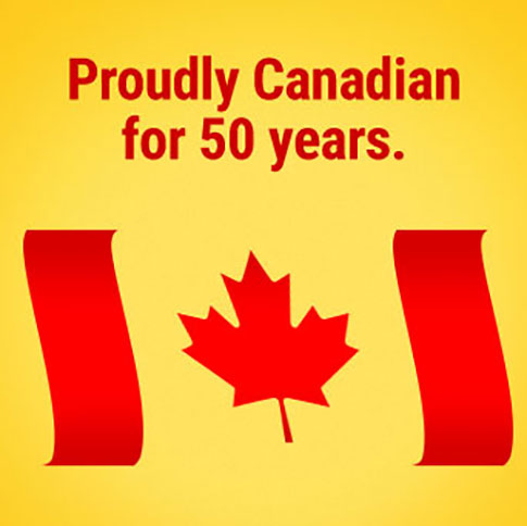 proudly canadian for 50 years