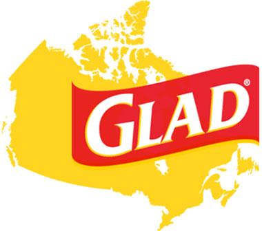 map of canada wth glad logo